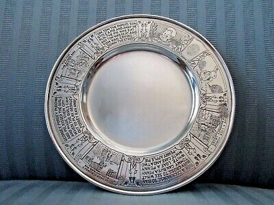William KERR Baby Plate STERLING SILVER Child Nursery Rhyme Figural Animals 6-2
