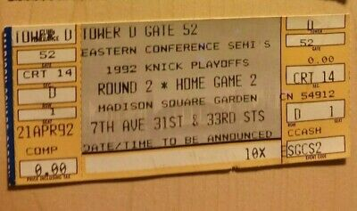 1992 Chicago BULLS vs New York KNICKS Playoff TICKET May 10 Michael JORDAN