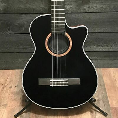 Epiphone CE Coupe Black Thinbody Nylon String Classical Acoustic-Electric Guitar