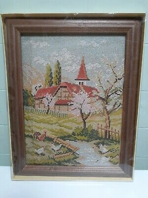 Tapestry with wool and frame