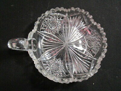 Libby  -  England  -  American Brilliant  Cut Glass  One Handled  Candy Dish