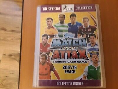 Match Attax Spfl 2017/18  323/336 Cards (Read Info)