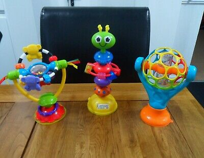 3 High Chair Toys Lamaze, Playgro & Oball