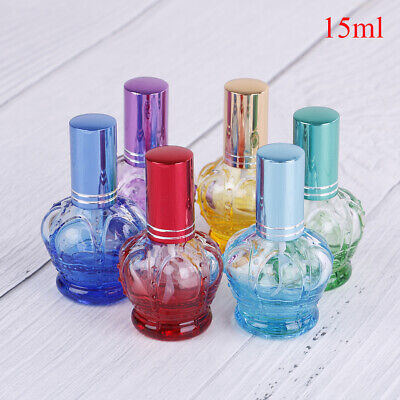 15ml Colorful Glass Perfume Bottles Spray Refillable Atomizer Scent Bottles~GN