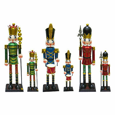 Hand Painted METAL Nutcracker Soldier Christmas Decoration Xmas Gift Ornament UK