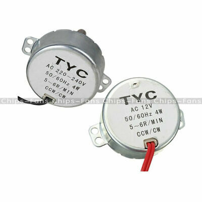 AC 12V/220V TYC-50 50/60Hz Synchronous Motor 5/6RPM CW/CCW 4W For Microwave S