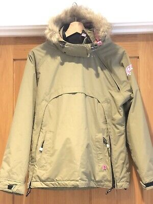 Girls Roxy Khaki & pink Ski/snowboard Jacket/coat. Age 14