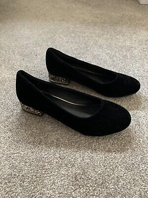 Girls Party Shoes Size 4 black/gold River Island