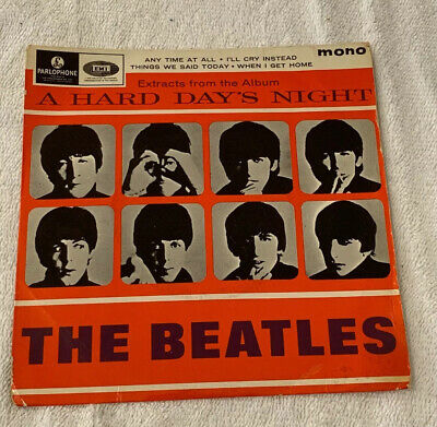 "Rare The Beatles Vinyl Extracts From Hard Days Night Gep 8924 1964 7"" Single"