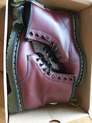 DR MARTENS 1460 BOOTS CHERRY RED Size 3 RRP £120