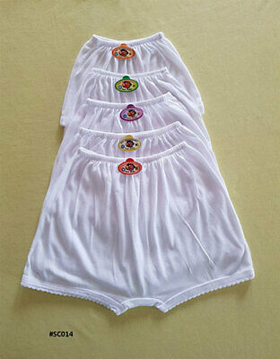 3 PACK GIRLS Knickers AGE 1-8 YEARS WHITE COTTON SCHOOL KNICKERS SHORTS BRIEFS