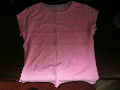 Girls aged 10 to 11 years pink short sleeved casual T shirt/top matalan