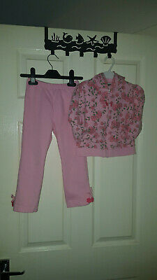 Girls pink Trousers & Matching Hooded Top Outfit Tracksuit