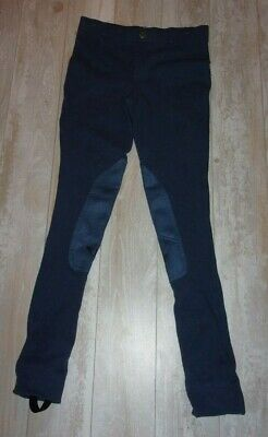 Tuff Rider Breeches Riding Pants Youth Started Pull On Jods Blue16