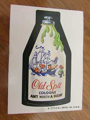 1974 Tops Wacky Pakages 5Th Series Old Spit Cologne