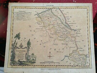 Antique Map of Flintshire Drawn from the best Authorities by Thomas Kitchen