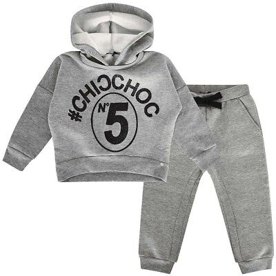 Microbe Tracksuit - Grey (Girls - 6 Years) RRP- £109