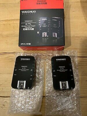 Yongnuo yn622c wireless flash trigger transceiver (x2)