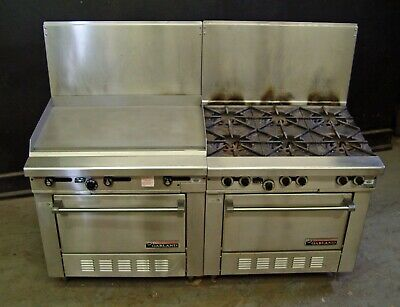 Garland H286 Series Griddle and Range with Standard Ovens - Nat Gas - BOTH UNITS
