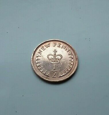 1973 New Half Penny Pence Coin British