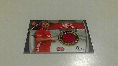 Topps Match Attax Spfl 2019/20 Rare Aberdeen Niall Mcginn Player Worn Shirt Card