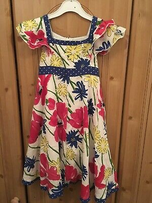 Girls John Lewis Floral Dress Age 6 Years