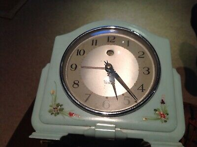 Art Deco Smith's Enfield Bakelite Electric  Alarmed mantel clock