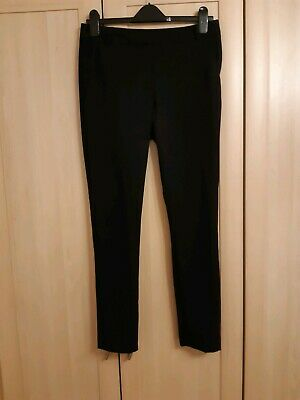 Ladies Girls New Look Black Smart Straight Leg Work Trousers Size 10