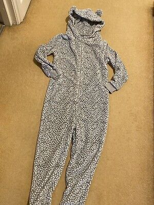 Girls Fleece One Piece/ Jumpsuit All In One From Next Age 9