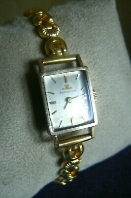 Jaeger Le Coultre Ladies Gold Watch In Original Box Rolled Gold Bracelet C1960