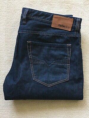 """DIESEL LARKEE JEANS, W 38"""", L 34"""", Relaxed, Comfort Straight, Wash 0088Z, Blue."""