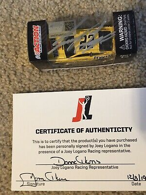 Autographed Joey Logano 2019 Pennzoil Ford Mustang Diecast 1:64 2018 CHAMP