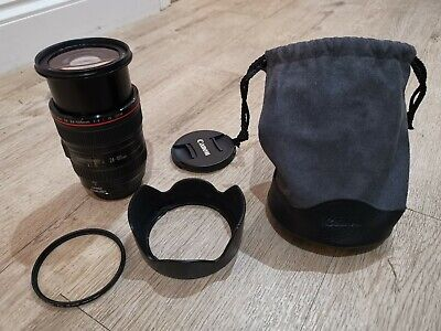 Canon L-series 24-105mm F/4 L IS USM Lens with Hoya UV filter