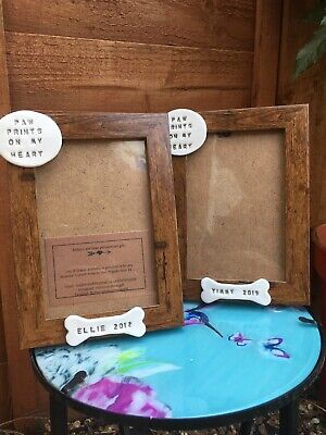 Dog Or Cat Photo Frame With Personalised Pet Name Plaque Christmas Present