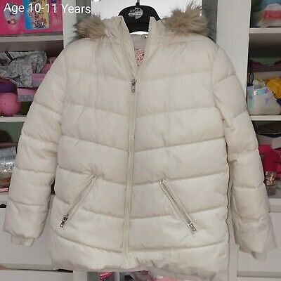 Girls Hooded Coat Age 10-11 Years - Hardly Worn - George