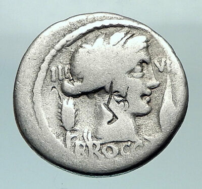 Roman Republic 63BC Rome Authentic Ancient Silver Coin CERES & THRONE i80471