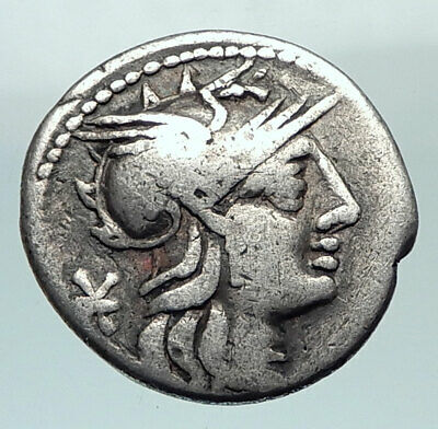 Roman Republic 132BC ROME Authentic Ancient Silver Coin VICTORY CHARIOT i80474