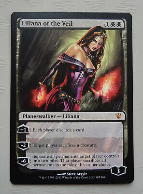 Liliana of the Veil x1 Innistrad (Slight Flaw) MTG Modern Magic the Gathering