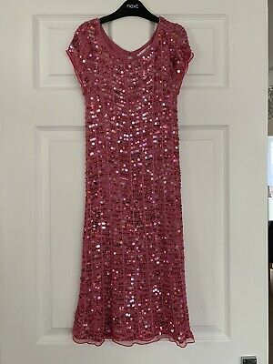 Stunning Girls M&S Marks & Spencer's Boutique Pink Party Dress Sequins Age 9-10