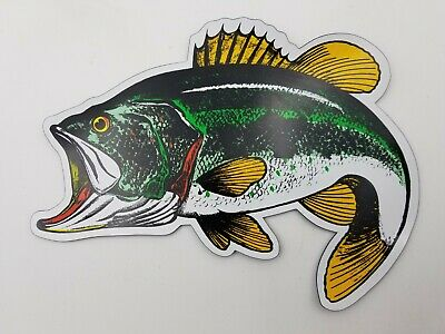 BASS CAR TRUCK MAGNET Largemouth Rivers Edge Art NEW Fishing Wildlife Decal
