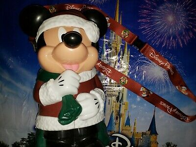 Disney Parks SANTA MICKEY MOUSE Christmas Popcorn Bucket NEW Red Suit NEW