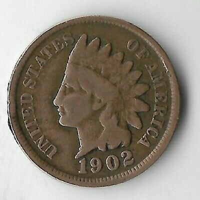 Rare Old Antique US 1902 Indian Head Penny Turn Of The Century Collection Coin