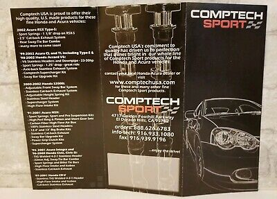 Comptech Sport USA Brochure Advertisement Import Acura RSX CL TL Type S NSX 2002