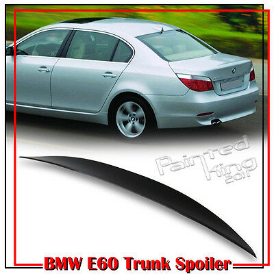 High Kick P Type Trunk Spoiler 04-10 Unpaint ABS For BMW E60 5-Series Saloon