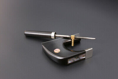 Upright Double Bass Bow Frog Screw German Bow Ebony Frog Sterling Silver Mounted