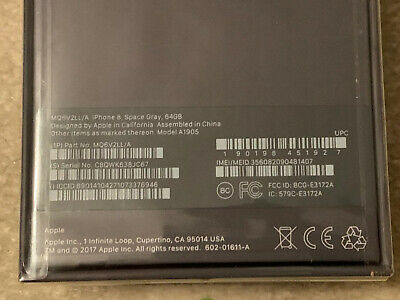 Apple iPhone 8 - 64GB - Space Gray (AT&T) A1905 (GSM) - Brand New Sealed Box