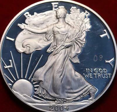 Uncirculated Proof 2004-W West Point  Mint American Eagle Silver Dollar