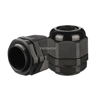 H● 20Pcs M25 IP68 Nylon Cable Gland Joint Adjustable.