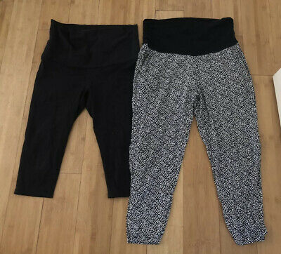 Target Collection Size 16 Maternity Pants X2 Printed And Black