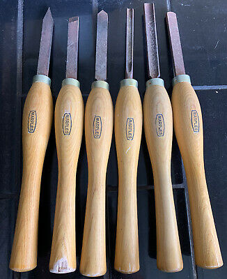 MARPLES 6 Six Piece Vintage Wood Carving Chisel Set